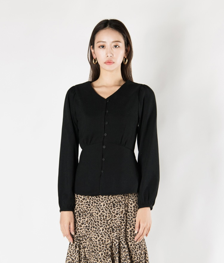 V-Neck Peplum Blouse