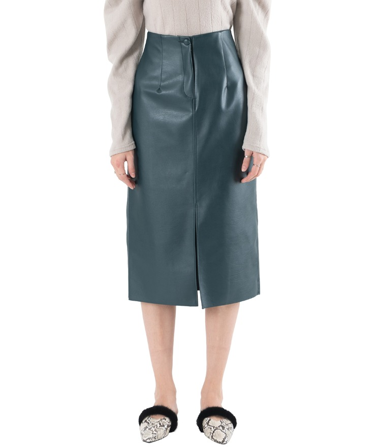 Front Slit Straight Cut Skirt