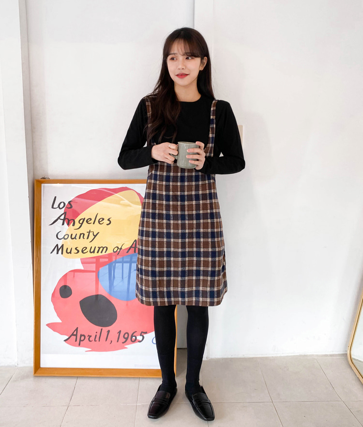 ESSAYCheck Pinafore Dress